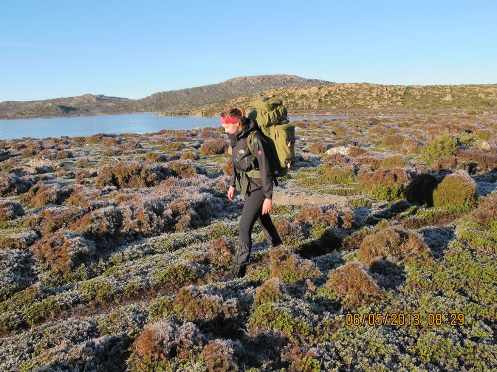 Image of young girl walking through central plateau